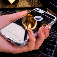 Luxury Mirror Case For iphone 5 6 7 S plus SE 6plus 7plus i5 i6 i7 i5s i6s Phone Cover Soft Silicon Ultrathin Bling Glitter Skin