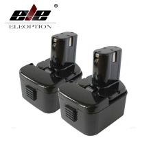 ELEOPTION 2 PCS 12V 2.0AH 2000mAh Rechargeable Battery For HITACHI EB1226HL EB1212S EB1220RS EB1220HL Power Tool