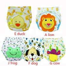 4 Pcs/lot 2017 NEW ! Baby Diapers Children Reusable Underwear Breathable Diaper Cover Cotton Training Pants Ftrx0015(China)