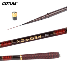 Goture 3.0-7.2M Stream Fishing Rod Carbon Fiber Telescopic Fishing Rod Ultra Light Carp Fishing Pole(China)