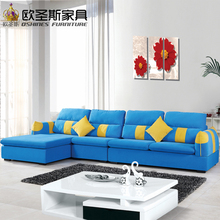 fair cheap low price 2017 modern living room furniture new design l shaped sectional suede velvet fabric corner sofa set X118B