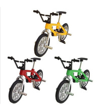 2017 Professional mini Finger Mountain Bikes Bmx Diecast Nickel Alloy Stents Finger Bicycle kid Novelty Mini Toys(China)