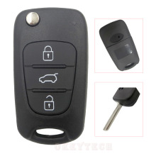 Replacement Remote Flip Folding fit Key car key Shell for kia key sportage 2016 3 rio k2 cerato ceed rio soul with kia logo