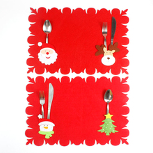 Christmas Decorations Dual-use Non-woven Fabric Table Mats Fork Knife Cutlery Holder Placemat Home X-mas Party Supplies(China)