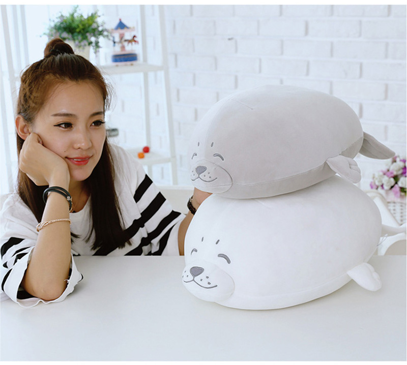 1pcs Cute Soft Animal Sea Lion Doll Baby Sleeping Pillow Marine Animals Seal Plush Toy Kids Stuffed Toys Gift (9)