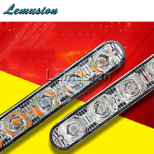Car LED Daytime Running Lights DRL Lamp For Acura MDX RDX Seat Leon Ibiza Jaguar XE XF XJ Saab 9-3 9-5 93 MG gs 350 accessories(China)