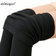 Sexy Women Warm Tights Slim Pants Microfiber Thermal Fleece Lined Stockings Pantyhose Female Warm Velvet Pantyhose For Winter(China)