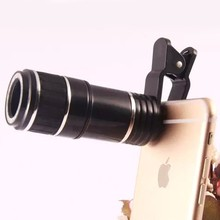 Portable 12X Universal Telephoto Lens Mobile Phone Optical Zoom Telescope Camera Lens For iPhone For Samsung Smart Phones