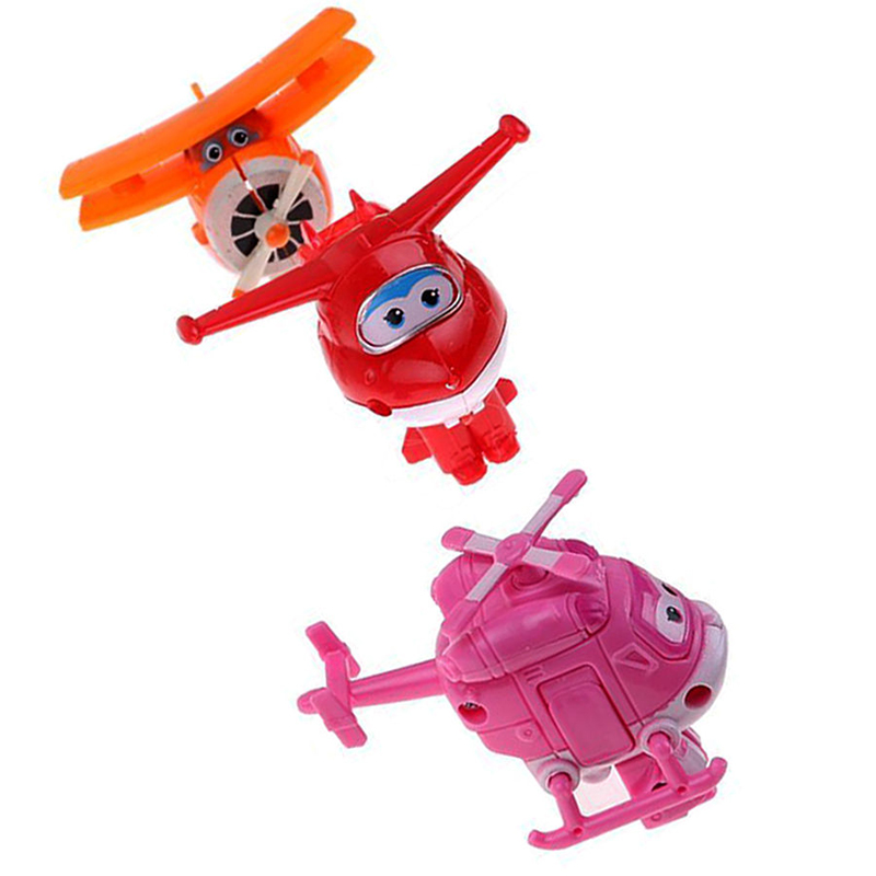 8pcs/set MINI Airplane Anime Super Wings Model toy Transformation Robot Action Figures superwings toys for Children Kids 15