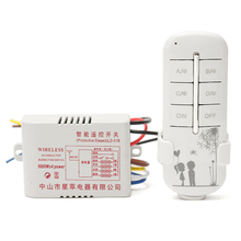 4 Way Channel Remote Wireless Switch 220V ON/OFF For Light Lamp Splitter With Digital Transmitter Popular