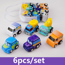 TWINKLECAT Car Toy 6pcs/set Pull Back Diecasts Model Toy Vehicles Small Model Mini Cars Toys for Kids Christmas Birthday Gift(China)