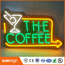 customized outdoor outlet acrylic neon letter sign for shop store(China)