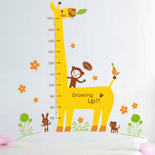 DIY removable room home decor cartoon animal wall stickers giraffe decal  high quality on hot selling new designed branded decor