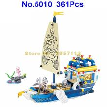 5010 361pcs Mermaid Fly Eagle Sailboat Sailing Boat Ship Girl Friends Building Block Brick Toy(China)