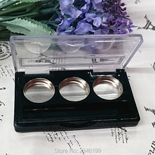 50pcs/lot Round Empty Eyeshadow Case,3grids 20mm Beauty Eyeshadow Palette Case,Makeup Accessories, Cosmetic Compact Container