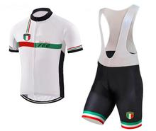 2017 Italy cycling Jersey men Sport Mountainbike Outdoor Fitness Fahrrad Kleidung Schnell Trocken Trainning Gym(China)