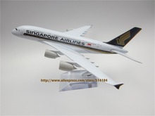20cm Metal Alloy Plane Model Air Singapore Airlines A380 Aircraft Airbus 380 Airways Airplane Model w Stand