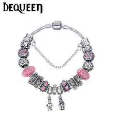 Jewelry Box Trendy Family Charm Bracelets Women Girls DIY Gift Berloque Hand Accessories Pulseras