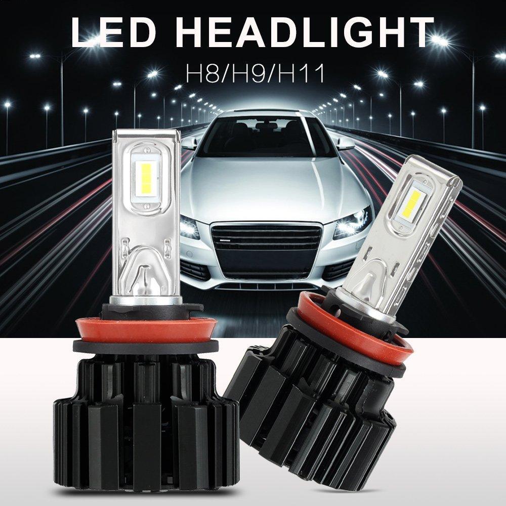2 Pcs Novsight Auto H11 Led Bulbs H8 H9 Headlight 80 - 86w 13600LM Car Lights 6000k 6000k White Drl Fog Light Lamps<br>