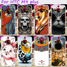 Hard Plastic Cool Skull Cute Minions Flower Phone Cases For HTC One M9 PLUS M9+ 5.2 inch Phone Cover Phone Shell Accessories