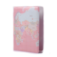 BOVIS Korean Female World Map Passport Cover Fashion Card Wallet Travel Passport Holder Protective Cover -- BIY003 PM49(China)