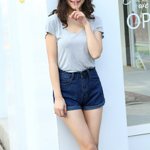 New arriving High Waist Denim Shorts Plus Size XS 4XL Female Short Jeans for Women Summer Ladies Hot Shorts(China)