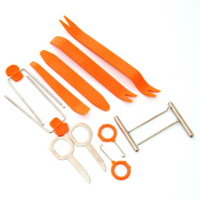 12pcs Hard Plastic Auto Car Radio Panel Interior Door Clip Panel Trim Dashboard Removal Opening Tool Set DIY Car Repair Tool Kit(China)