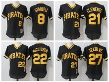 MLB PITTSBURGH PIRATES jerseys PITTSBURGH PIRATES jerseys Willie Stargell Andrew McCutchen Roberto Clemente Kent Tekulve jersey(China)