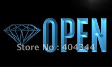 LK788- OPEN Diamond  Store Buy NEW   LED Neon Light Sign    home decor  crafts