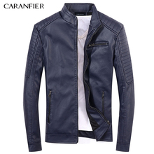 CARANFIER 2017 New Men Leather Jackets High Quality Motorcycles British Businessmen Casual Fashion Military Tactical Jacket(China)