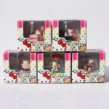 Cute Hello Kitty Casual Time Collection Figure Doll PVC Kitty Toy Figures Gifts Retail Free Shipping