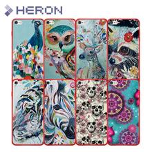 Silicone Scenery Case For iPhone i7 7+ i8 i8+ X iX 5 5S SE 6 6s Plus Soft Red Matt Ultra Thin Phone Cover Bags Anti Finger Print(China)