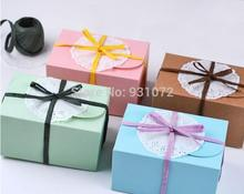 Free Shipping Wholesale500pcs/lot Small Natural jewelry Kraft paper gift box, Cake package, muffin box biscuits box