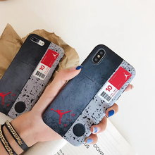 New fashion Japan USA street tide Air Jordan brand soft case iphone 6 6S 7 plus 7 8 plus X XS MAX XR Label retro phone cover