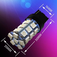 1pcs T20 W21W 7440 27 SMD 5050 LED  Auto strobe flash Red tail light 27smd White Car Parking lights Tail Lamp Rear Bulb 12V