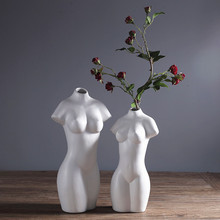 Nordic idea naked woman vase porch office furnishing articles modern household ornaments ceramic body abstract decoration