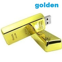 Gold bars USB Flash Drive 1gb 2gb 4gb 8gb 16gb 32GB Pen Drive Corporate gifts Pendrive Golden flash stick 100pcs/lot