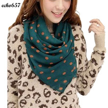 Echo657 Fashion New Stylish Girl Long Soft Silk Chiffon Scarf Wrap Polka Dot Shawl Scarve For Women Oct 26 PY