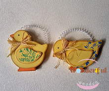 Wooden Easter Decorations Hang Chicken Holiday Articles Furnishing Articles Household Adornment of Children Room Decorate