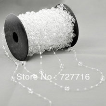 Clear beads Strands Garland 5 Meters Roll x 1 for Wedding tree centerpiece fascinator bouquet Floral Craft Cake Decoration
