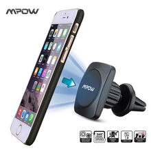 Original MPOW MCM11 Universal Holder Car 360 Degree Swivel Magnetic Air Vent Mount Clip Holder Dock For Phones Tablets GPS etc(China)