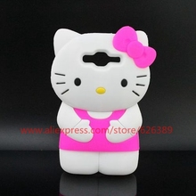 New Arrival Cartoon Hello Kitty Cell Phone 3D Silicone Soft Case For Samsung Galaxy J2 J200 J200F