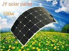 promotion semi flexible solar panel 100w; mono solar cell 125*125mm for 12V battery charger