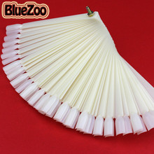 BlueZoo 50Pcs/Lot False Nails For Nail Art Tips Display Practice Faux Ongles Nail Color Sample Fan Polish Tools Equipment