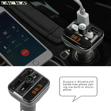 Dual USB Port Car Chargers Bluetooth FM Transmitters Handsfree Phone Calling Car Kits MP3 Player with TF Card Slot