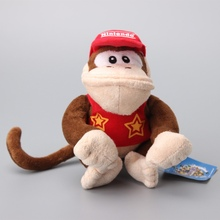 Super Mario Bros Diddy Kong Plush Toy Stuffed Dolls Kids Gift 16 CM