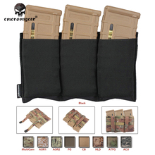 Emersongear Triple M4 Pouch FAST Magazine Molle Airsoft Wargame Gear Paintball Equipment MAG EM2388 Coyote Brown Black Multicam