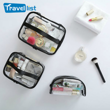 2017 TRAVEL LIST Transparent PVC Toiletry Bags Travel Organizer Cosmetic Necessary Beauty Case Makeup Bag Bath Wash Make up Box
