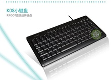 Original tone K08 wired small keyboard multimedia keyboard computer notebook health disc Mini USB external keyboard