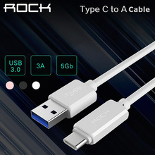 Original Rock Type-C USB 3.1 to USB 3.0 Data Sync Charging Cable For Macbook 2015 OnePlus 2 Lumia 950XL Nexus 5X 6P Letv Pro Max